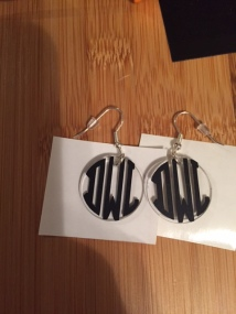 Acrylic Earrings Personalized with the Cricut