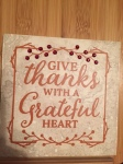 Give Thanks Plaque